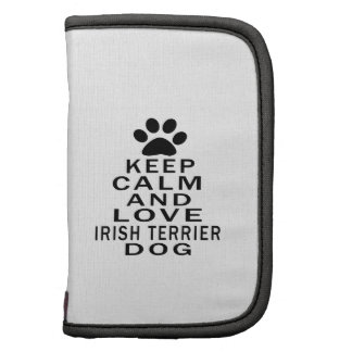 Guarde la calma y ame el perro de Terrier irlandés Organizador