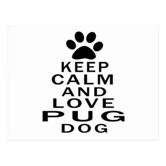 Guarde la calma y ame el perro del barro amasado tarjeta postal