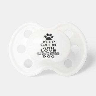 Guarde la calma y ame el perro Plano-Revestido del