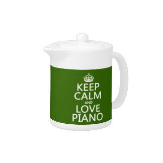 Guarde la calma y ame el piano cualquier color de