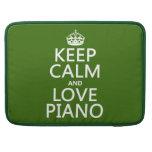 Guarde la calma y ame el piano (cualquier color de fundas macbook pro