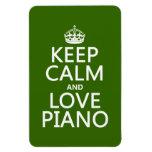 Guarde la calma y ame el piano (cualquier color de iman