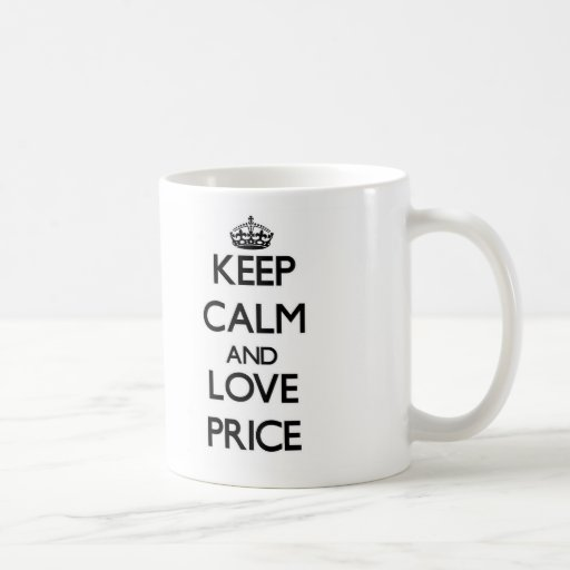 Guarde la calma y ame el precio tazas de café