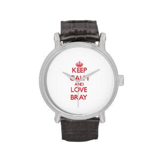 Guarde la calma y ame el rebuzno relojes de mano
