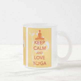 Guarde la calma y ame el regalo original de la imp taza de café