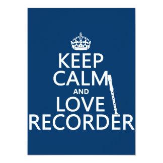 Guarde la calma y ame el registrador (cualquier