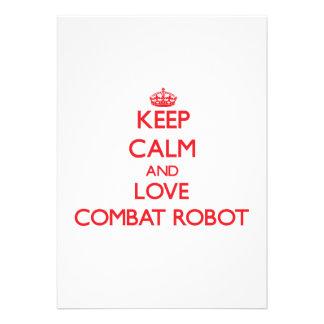 Guarde la calma y ame el robot del combate comunicados