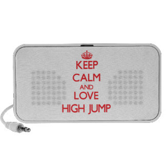 Guarde la calma y ame el salto de altura mini altavoces