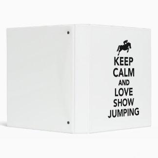 """Guarde la calma y ame el salto de la demostración carpeta 1"""""""
