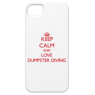 Guarde la calma y ame el salto del contenedor iPhone 5 carcasas
