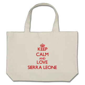 Guarde la calma y ame el Sierra Leone Bolsa