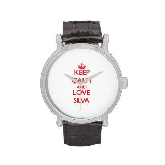 Guarde la calma y ame el Silva Relojes De Mano