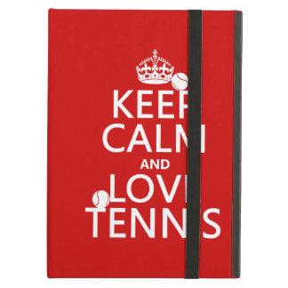 Guarde la calma y ame el tenis (el color del