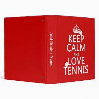 """Guarde la calma y ame el tenis (el color del carpeta 1"""""""