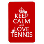 Guarde la calma y ame el tenis (el color del perso imanes rectangulares