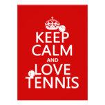 Guarde la calma y ame el tenis (el color del perso anuncios personalizados