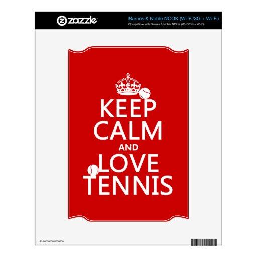 Guarde la calma y ame el tenis (el color del perso skins para elNOOK