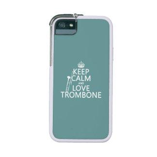 Guarde la calma y ame el Trombone (cualquier color