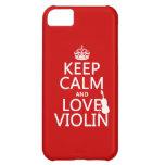 Guarde la calma y ame el violín (cualquier color d