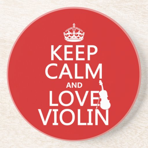 Guarde la calma y ame el violín (cualquier color d posavasos diseño