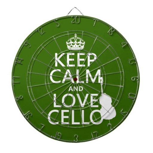 Guarde la calma y ame el violoncelo (cualquier col tablero dardos