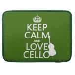 Guarde la calma y ame el violoncelo (cualquier col fundas para macbooks