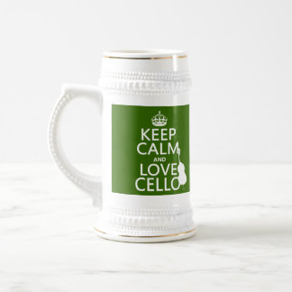 Guarde la calma y ame el violoncelo cualquier col taza de café