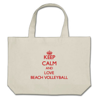 Guarde la calma y ame el voleibol de playa bolsas