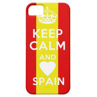 guarde la CALMA Y AME ESPAÑA iPhone 5 Case-Mate Cobertura