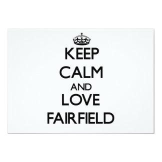 Guarde la calma y ame Fairfield Invitación 12,7 X 17,8 Cm