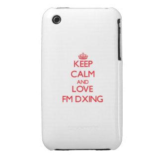 Guarde la calma y ame Fm Dxing iPhone 3 Case-Mate Cobertura