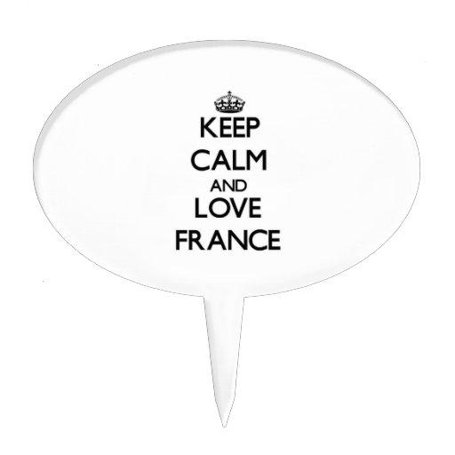 Guarde la calma y ame Francia Decoraciones Para Tartas