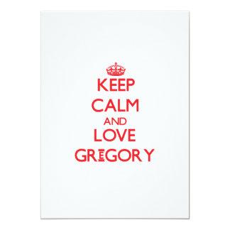 Guarde la calma y ame Gregory Invitación 12,7 X 17,8 Cm