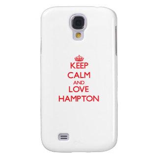 Guarde la calma y ame Hampton Funda Para Galaxy S4