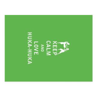 Guarde la calma y ame Huka-Huka Postales