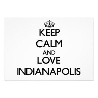 Guarde la calma y ame Indianapolis Invitación Personalizada