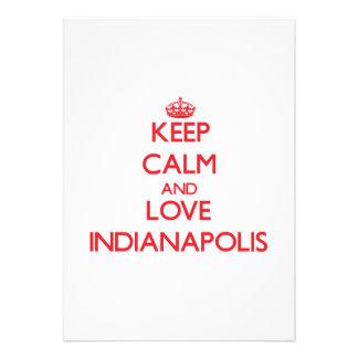 Guarde la calma y ame Indianapolis Anuncio Personalizado
