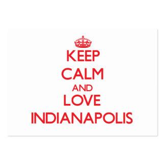 Guarde la calma y ame Indianapolis Tarjetas De Visita