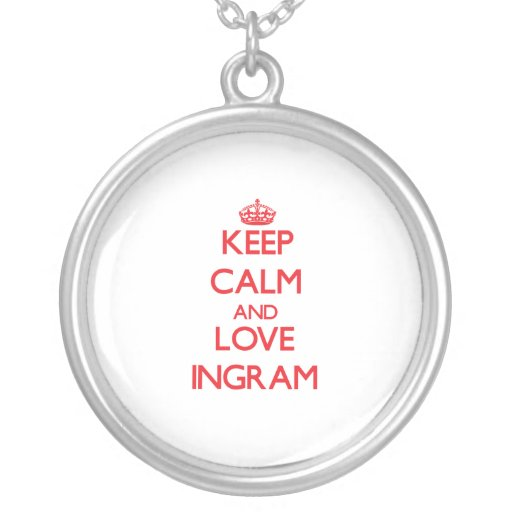 Guarde la calma y ame Ingram Collar Personalizado