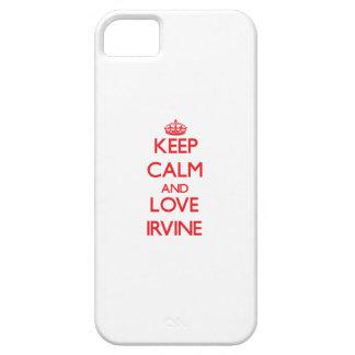 Guarde la calma y ame Irvine iPhone 5 Cárcasas