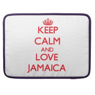 Guarde la calma y ame Jamaica Funda Para Macbook Pro
