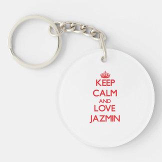 Guarde la calma y ame Jazmin Llavero