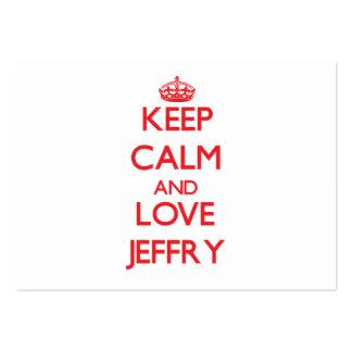 Guarde la calma y ame Jeffry Tarjetas Personales