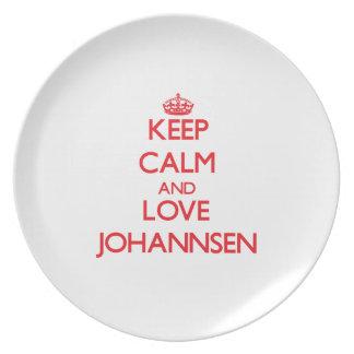 Guarde la calma y ame Johannsen Plato