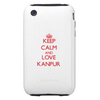 Guarde la calma y ame Kanpur iPhone 3 Tough Coberturas