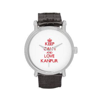 Guarde la calma y ame Kanpur Relojes