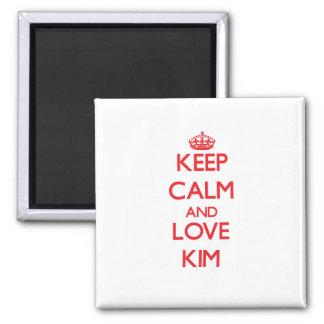 Guarde la calma y ame Kim Imán Para Frigorifico