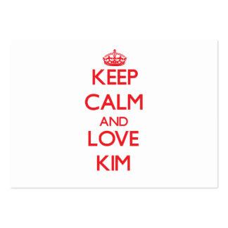 Guarde la calma y ame Kim Tarjeta Personal