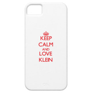 Guarde la calma y ame Klein iPhone 5 Funda