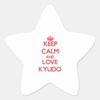 Guarde la calma y ame Kyudo Calcomanías Forma De Estrellas Personalizadas